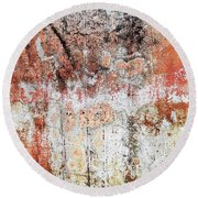 Wall Abstract  183 Round Beach Towel