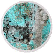 Wall Abstract 219 Round Beach Towel