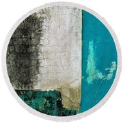 Wall Abstract 296 Round Beach Towel