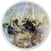 Wall Abstract 68 Round Beach Towel