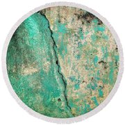 Wall Abstract 97 Round Beach Towel