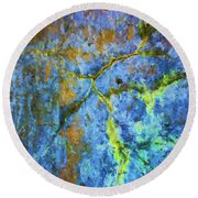 Wall Abstraction I Round Beach Towel
