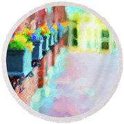 Wall Flower On The Mills In Amesbury Ma Round Beach Towel