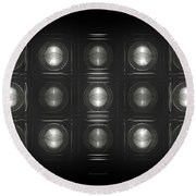 Wall Of Roundels - 5x3 Round Beach Towel