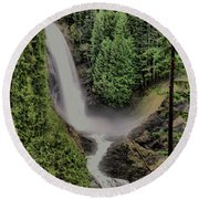 Round Beach Towel featuring the photograph Wallace Falls by Jeff Swan