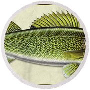 Walleye Id Round Beach Towel