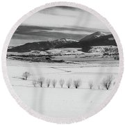 Round Beach Towel featuring the photograph Wallowa Mountains by Cat Connor