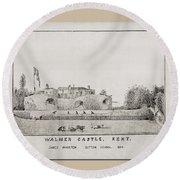 Walmer Castle Kent Round Beach Towel