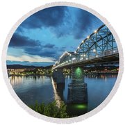 Walnut At Night Round Beach Towel
