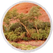 Round Beach Towel featuring the photograph Walpa Gorge 03 by Werner Padarin