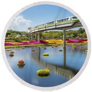 Walt Disney World Epcot Flower Festival Round Beach Towel
