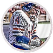 Walter Payton Chicago Bears Art 2 Round Beach Towel
