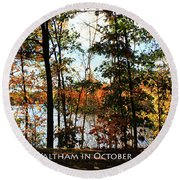Waltham In October Round Beach Towel