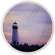 Walton Lighthouse Round Beach Towel