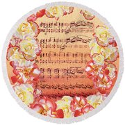 Waltz Of The Flowers Dancing Roses Round Beach Towel