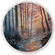 Wander In The Woods Round Beach Towel