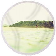 Round Beach Towel featuring the photograph Wandering by Nik West