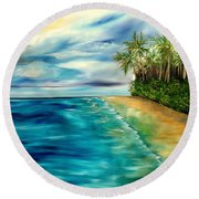 Wandering Through Turquoise Days Round Beach Towel