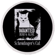 Wanted Dead And Alive Round Beach Towel