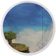 War And Peace Round Beach Towel