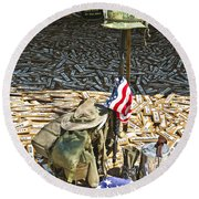 War Dogs Sacrifice Round Beach Towel