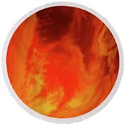 Round Beach Towel featuring the painting Warm  by Alan Johnson