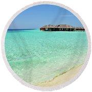 Warm Welcoming. Maldives Round Beach Towel