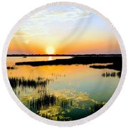 Warm Wet Wild Round Beach Towel