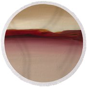 Warm Mountains Round Beach Towel