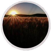 Warmth And Illumination Round Beach Towel