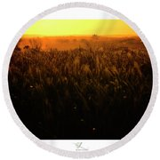 Warmth Of A Yellow Sun Round Beach Towel