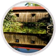 Warner Covered Bridge Round Beach Towel
