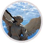 Warrior Angel Round Beach Towel
