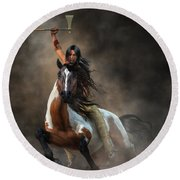 Warrior Round Beach Towel