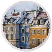 Round Beach Towel featuring the photograph Warsaw, Poland by Juli Scalzi