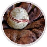 Wartime Baseball Round Beach Towel
