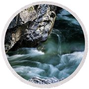 Round Beach Towel featuring the photograph Wash Away Your Worries - Nature Art by Jordan Blackstone