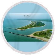 Washburns Island Round Beach Towel