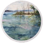 Washed By The Waters Series Round Beach Towel