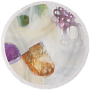 Washed Up # 5 Round Beach Towel