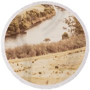 Washes Of Rustic Country Round Beach Towel