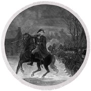 Washington At The Battle Of Trenton Round Beach Towel