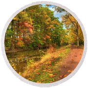 Washington Crossing Park Round Beach Towel