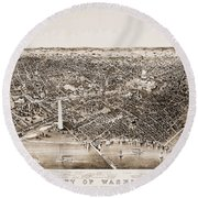 Washington D.c., 1892 Round Beach Towel