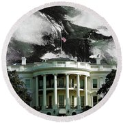 Washington Dc, White House Round Beach Towel by Gull G