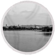 Washington Landmarks Round Beach Towel