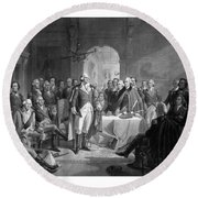 Washington Meeting His Generals Round Beach Towel by War Is Hell Store