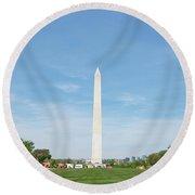 Washington Monument Round Beach Towel by Anthony Baatz