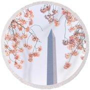 Washington Monument Spring Celebration  Round Beach Towel