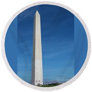 Washington Monument Round Beach Towel